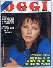 OGGI N. 39, 1986 – Agostina Belli,Gina Lollobrigida,Carmen Russo,Sandra Milo