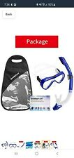 SwimStar Snorkel Set for Women and Men, Anti-Fog Tempered Glass Mask and Snorkel