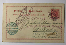 Jerusalem -  Weltpostverein 5 Kreuzer mit Überdruck 20 Praha auf Russia 1899