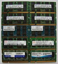 Assorted 10x1GB DDR2 SODIMMs