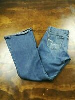 Women's American Eagle Real Flare Size 4 Denim Jeans Medium Wash