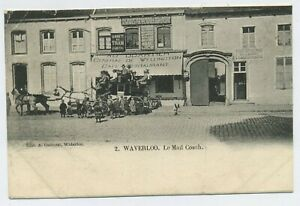 The Mail Coach Waterloo Belgium Vintage Postcard D12
