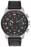Citizen Eco-Drive Primo Men's Chronograph Black Leather 45mm Watch CA0681-03E