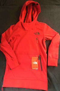 New Boys Size 7/8 - The North Face Tekno Pullover Hoody - Red