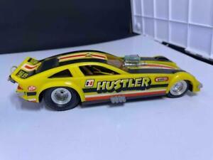 Vintage 1970s MARX Pull String Toy Drag Race Funny Car - Hustler  nr