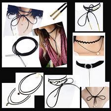 Choker Halsband Kropfband Collier Halskette Schleife Perlen 90er Blogger Trend S