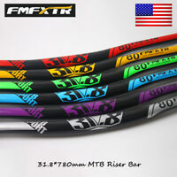 US FMFXTR MTB/DH/XC Bike Handlebar 31.8*780mm AL7075 Riser 18mm 335g Riser Bar