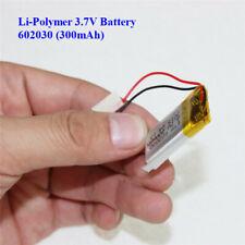 Batería de polímero de litio 3.7V 300mAh 602030 para Cámara en Tablero. Watch, Psp LED Lámpara RC