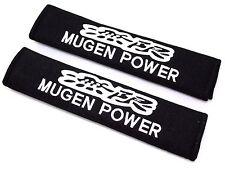 JDM PAIR MUGEN POWER Embroidered Seat Belt Shoulder Cover Pads FOR HONDA