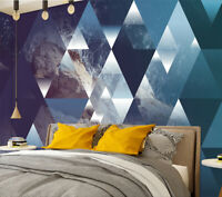 3D Abstract Geometric Triangles Self-adhesive Bedroom Wall Murals Wallpaper