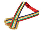 Masonic Order of the Eastern Star OES Sash Five Color sash With Red Lining