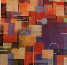"John Baker Original 1 of a kind 22"" x 22"" Pastel on Archival Paper Purple Blue"
