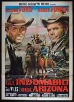 M178 Manifesto 2F Gli Unruly Dell'Arizona Glenn Ford Henry Fonda