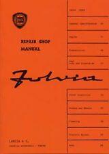 LANCIA FULVIA shop Manuale supplemento incluso BOOK LIBRO AUTO