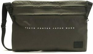 Yoshida Bag PORTER FLAT SHOULDER BAG 861-16806 Black Khaki from Japan New