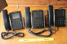 Lot of 3 Polycom VVX400 IP Phone Five telephones Multi Line Speaker Phones
