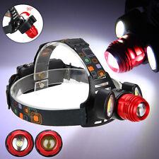 18000lm XM-L T6 LED Linterna Cabeza Luz Frontal Lamp Bicicleta Luz Frontal Zoom