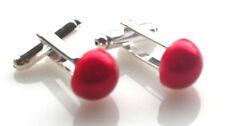 Red Plastic Cufflinks for Men