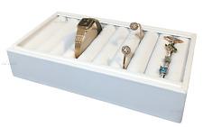 White Ring Tray Jewelry Display Holder 9 Slot Bracelet Tray Cufflinks Holder