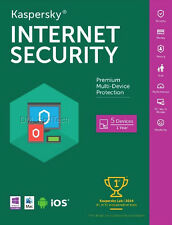 Kaspersky Internet Security 2017, 5 PC Mac Android iOS, (Exp. Date: 8/6/2018)