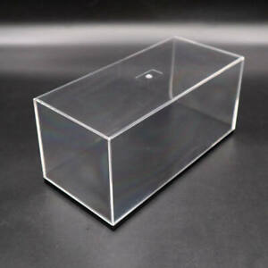 Acrylic Display Case Model Cars Show Box Transparent Dust Proof with Black Base
