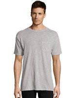 Hanes Men's 1901 Heritage Dyed Tall Short Sleeve Crewneck Pocket T 5A63D GRTDYE