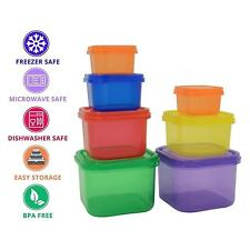 7 x Healthy Eating Portion Control Pots Containers Weight Loss Diet Slim