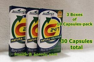 3 Boxes C24/7 Natura-Ceuticals Dietary Food Supplement 10 Tablets/ Box (30 Tabs)