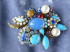 EARLY RARE 1960'S CHRISTIAN DIOR RHINESTONE PIN MADE IN GERMANY