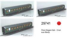 Aus Märklin 29741 Drei Schürzenwagen der DB 1+2.Klasse #NEU#