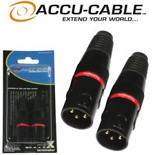 Pro Pack of 2 ADJ Accu-Cable 3 Pin Male DMX Terminator Plugs for Lighting Rigs