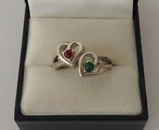 Ring Ruby Sterling Silver Vintage & Antique Jewellery