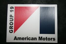 American Motors GROUP 19 AMC Sticker AMX, Javelin / Group 19 PERFORMANCE PACKAGE