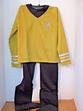 RUBIES~Gold & Black 2 Piece STAR TREK OFFICER HALLOWEEN COSTUME~Youth Medium