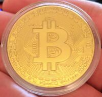 Physical Bitcoin/BTC High-Polished, Gold-Plated In Collector Case