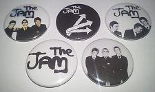 5 The Jam button Badges 25mm punk All Mod Cons Paul Weller Sex Pistols Clash UK
