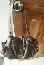 Women Gap Jeans Brown Genuine Leather Bag.