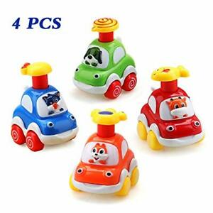 Baby Toy Cars for 1 Year Old Toddler Cartoon Wind up Cars for 2 Year Old Boys...
