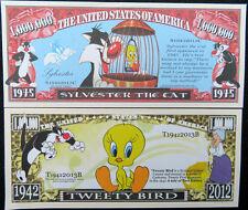 Sylvester the Cat & Tweety Bird FREE SHIPPING! Million-dollar novelty bills