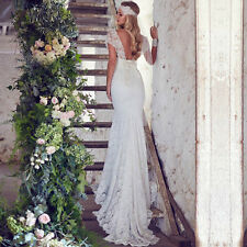 Sweetheart Lace Bohemian Wedding Dress Cap Sleeve Bridal Mermaid Wedding Gown