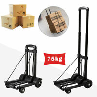 75KG Heavy Duty Folding Lightweight Hand Sack Trolley Cart Wheel Truck Barrow UK