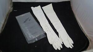 "Vintage 1960s Wear Right Gloves 100% Nylon long 22"" size 7"