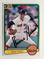 1983 Donruss Bruce Hurst Card Auto Autograph Signed Red Sox #134