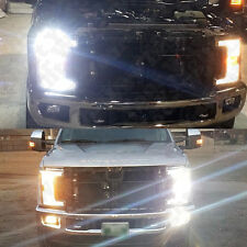 6 x 6000k Xenon White LED Headlight + Fog Lights Bulbs For 2017 2018 F250 F350