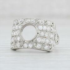 Vintage Semi Mount Diamond Ring Platinum Size 7 for Solitaire