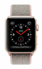 Apple Watch Series 3 38mm Aluminiumgehäuse in Gold mit Sport Schleife in Sandrosa (GPS + Cellular) - (MQKL2ZD/A)