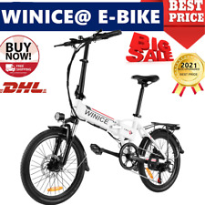 Klapprad Elektrofahrrad 20 Zoll E-bike Citybike 7-Gang Fahrrad mit 250W Motor DE