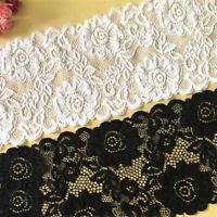 1Y Elastic Band Lace Trim Ribbon Underwear Garment Wedding Dress Sewing Edge DIY