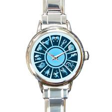 Horoscope Astrology Star Signs Italian Charm Watch Bracelet Cheap Gift Present