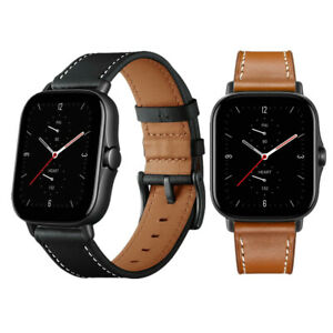 Quick Relase Classic Genuine Leather Watch Band Strap For Amazfit GTS 2 2E